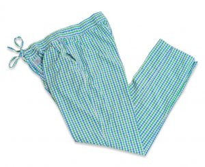 Gingham: Lounge Pants - Green/Blue