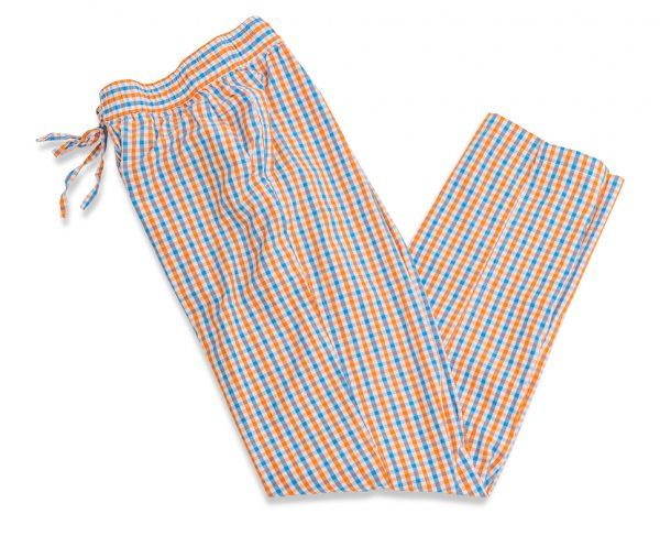 Gingham: Lounge Pants - Blue/Orange