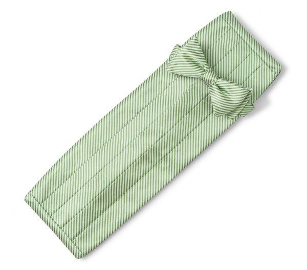 Signature Stripe: Cummerbund Set - Green
