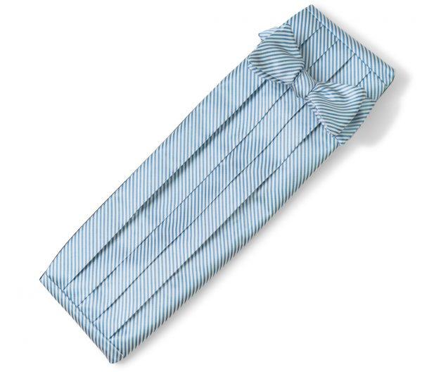 Signature Stripe: Cummerbund Set - Carolina