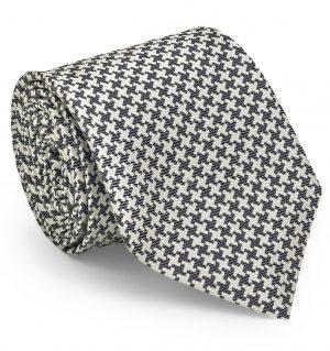 Gatsby Houndstooth: Tie - Black/White