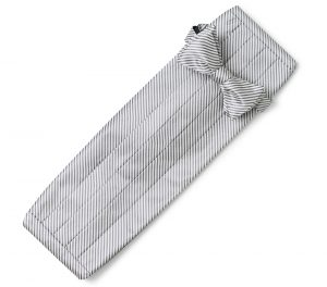 Signature Stripe: Cummerbund Set - Gray