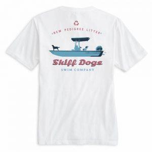 Skiff Dogs: Short Sleeve T-Shirt - White