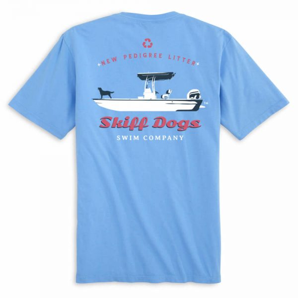 Skiff Dogs: Short Sleeve T-Shirt - Light Blue