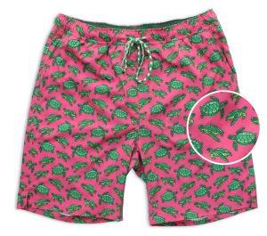 Turtle Tour: Swim Trunks - Coral