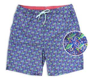 Staghorn Swim: Swim Trunks - Blue/Pink