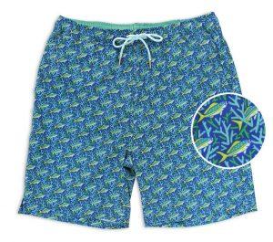 Staghorn Swim: Swim Trunks - Blue/Mint