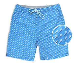 Reef Shark Rally: Swim Trunks - Light Blue