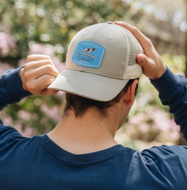 Skiff Dogs Logo: Trucker Cap - Shoal Blue