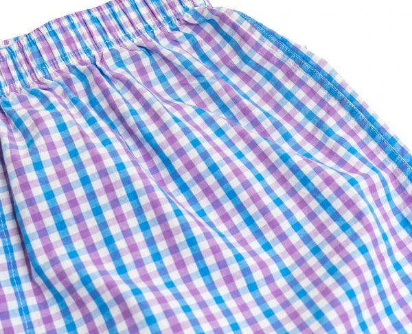 Gingham: Lounge Pants - Blue/Violet