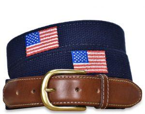 Star Spangled: Embroidered Belt - Navy