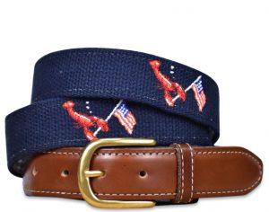 Patriotic Pinchers: Embroidered Belt - Navy