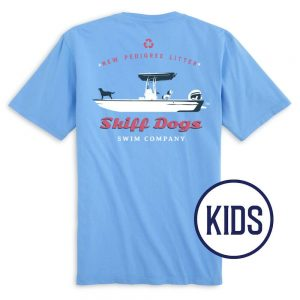 Skiff Dogs: Kid's Short Sleeve T-Shirt - Light Blue