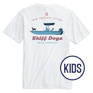 Skiff Dogs: Kid's Short Sleeve T-Shirt - White