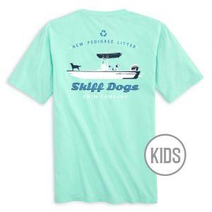 Skiff Dogs: Kid's Short Sleeve T-Shirt - Mint