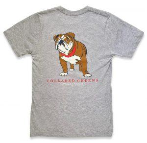 Bulldog Blues: Short Sleeve T-Shirt - Gray