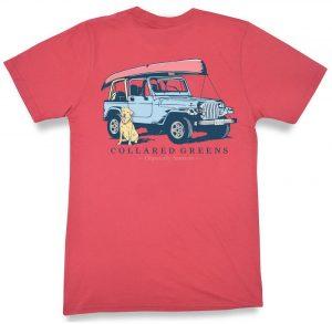 Jeep Dog: Short Sleeve T-Shirt - Coral