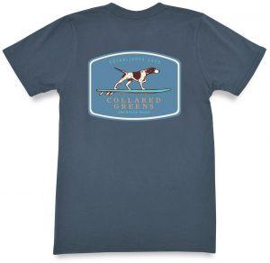 Pointer Surfer: Short Sleeve T-Shirt - Steel Blue