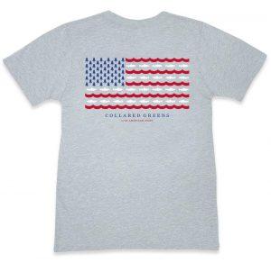 Trout Flag: Short Sleeve T-Shirt - Gray