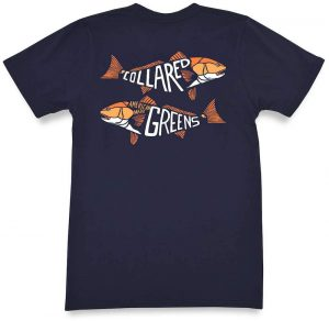 Red Fish Two Fish: Short Sleeve T-Shirt - Navy
