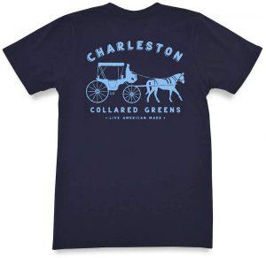King Street Carriage: Short Sleeve T-Shirt - Navy