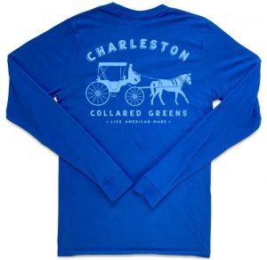 King Street Carriage: Long Sleeve T-Shirt - Harbor Blue
