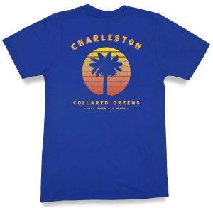 Vintage Sunset: Short Sleeve T-Shirt - Harbor Blue