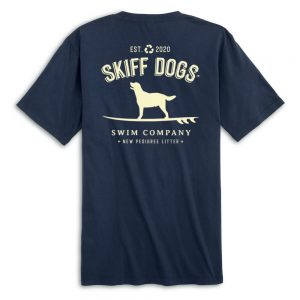 Hang Ten Hound: Pocket Short Sleeve T-Shirt - Navy