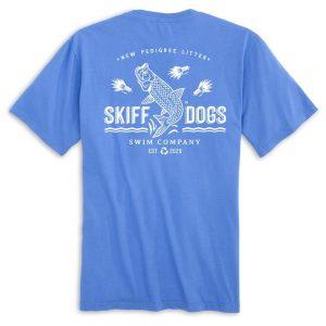 Tarpon Tricks: Pocket Short Sleeve T-Shirt - Azure